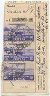 1936 RICEVUTA VAGLIA DA POSTA MILITARE  88 CON ERITREA C. 35 X3  (2 DIFETTOSI + 1 PERFETTO)  1.6.36 (8841) - Storia Postale
