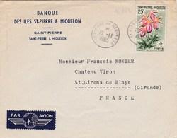 ESC De Saint-Pierre Et Miquelon (975) Pour Saint-Girons-de-Blaye (33) - CAD 10 Novembre 1965 - Timbre YT 362 - St.Pierre Et Miquelon