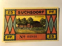 Allemagne Notgeld Suchdorf 25 Pfennig - [ 3] 1918-1933 : Weimar Republic