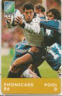 CARTE-PUCE-AFRIQUE-SUD-RUGBY-COUPE MONDE 1995-JOUEUR-NSB-TBE-RARE - Sport