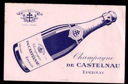 BUVARD  -  CHAMPAGNE DE CASTELNAU, Epernay - Carte Assorbenti