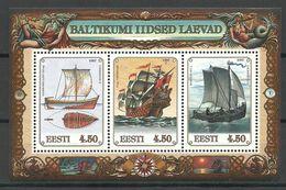 ESTLAND Estonia Estonie 1997 Block Schiffe Ship Schifffahrt Mi Block 10 MNH - Ships