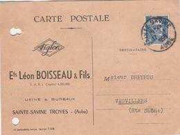 Carte Commerciale Ets Léon BOISSEAU / Bonneterie / 10 Sainte Savine / Troyes / Aube - Maps