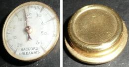 Rare Ancien Thermomètre Gradué De -20 à + 60 Dégrés Celsius, Raccord Orléanais, Orléans 45 - Autres
