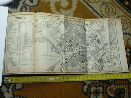 Zürich Switzerland Map Karte 1892 - Cartes Géographiques