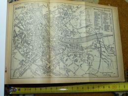 Basel Switzerland Map Karte 1892 - Cartes Géographiques