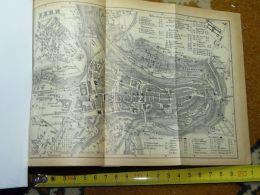 Bern Switzerland Map Karte 1892 - Cartes Géographiques