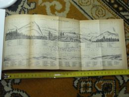 Alpenkette Bern Interlaken Switzerland Map Karte 1892 - Landkarten