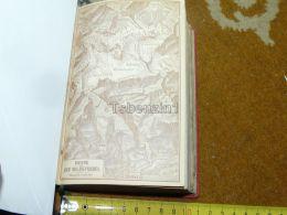 Sierre Wildstrubel Switzerland Map Karte 1892 - Geographical Maps
