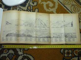 Mürren Faulhorn Switzerland Map Karte 1892 - Cartes Géographiques
