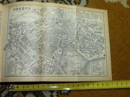 Geneve Genf Switzerland Map Karte 1892 - Landkarten