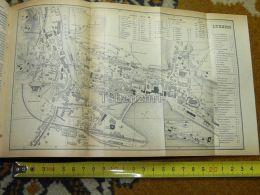 Luzern Switzerland Map Karte 1892 - Geographical Maps