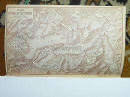 Rigi Vierwaldstattersee Luzern Vitznau Schwyz Steinen Stanz Switzerland Map Karte 1892 - Landkarten