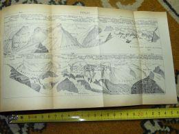 Titlis Switzerland Map Karte 1892 - Cartes Géographiques