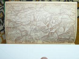 Züricher See Wollerau Busskirch Lachen Wangen Siebnen Altendorf Freyenbach Einsiedeln Switzerland Map Karte 1892 - Cartes Géographiques