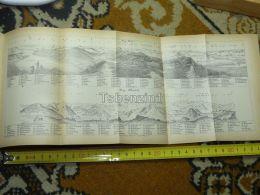 Rigi Kulm Scheideck Zuger See Waldstatter See Vier Switzerland Map Karte 1892 - Cartes Géographiques