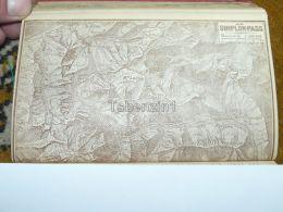 Simplon Pass Brig Monte Leone Switzerland Map Karte 1892 - Cartes Géographiques