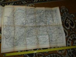 Savoyen Geneve Lausanne Pallanza Locarno Albertville Turin Milano Switzerland Map Karte 1892 - Landkarten