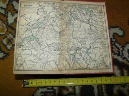 Genf Lausanne Locarno Luzern Schwyz Basel Schaffhausen Road Routen Switzerland Map Karte 1892 - Cartes Routières