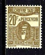 TUNISIE T64** 20f Brun-olive Déesse Cathaginoise - Tunisia (1888-1955)