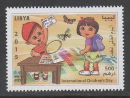 LIBYA ,2015, MNH, CHILDREN'S DAY,BUTTERFLIES, STAMP COLLECTING,1v - Enfance & Jeunesse