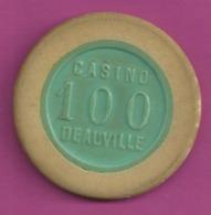 JETON CASINO DEAUVILLE (14) 100 Fr Numero 8011 Diametre 38mm Port 1 Euro N17 - Casino