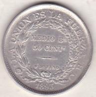Bolivie . 50 Centavos 1893 C.B. Argent .KM# 161.5 - Bolivie