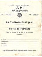 LA TIREFONNEUSE   J A M I  -  Pièces De Rechange, Plans Et Détails De La Tête De Tirefonneuse - Technical