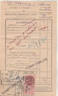 Cachet Oblitération Postale Timbre Fiscal BESANCON Doubs 16/9/1944 Sur Reçu Taxe Téléphone - France