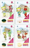 INDONESIA INDONESIEN  INDONESIE  - IIND P 462...465- P 465..468 Dunkin Donuts  1- 4 - MINT RRR - Indonesia