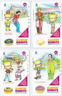 INDONESIA INDONESIEN  INDONESIE  - IND P 505...508-P 509..512 Dunkin Donuts  5- 8  - MINT RRR - Indonesia
