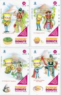 INDONESIA INDONESIEN  INDONESIE  - IND P 553..556-P 558...561 Dunkin Donuts  9 -12  - MINT RRR - Indonesia