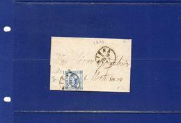 ##(ANT181)-Italia 5-8-1863 - Siena - Effigie Cent  15 II°tipo Su Piccolo Piego Privo Di  Testo Per   Monticiano (Siena) - Marcophilia