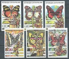 Centrafricaine Rép. YT N°835/840 Scoutisme Et Papillons Neuf ** - Centrafricaine (République)