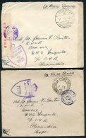 1944/5 Egypt 6 X Field Post Ofice Censor Covers - Sub Ltn James Clayton, HMS Mosquito.  Alexandria O.A.S., F.P.O. - Covers & Documents