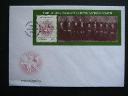 FDC - 80th Ann.of Declaration Of Independence. Horses # Lietuva Litauen Lituanie Litouwen Lithuania 1998 - Lithuania