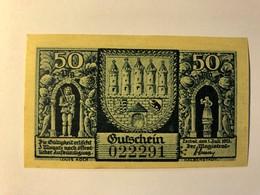 Allemagne Notgeld Zerbst 50 Pfennig - [ 3] 1918-1933 : Weimar Republic