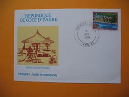 FDC  République De La Côte D'Ivoire - Abidjan  Sites Touristiques  10/11/1984 - Ivory Coast (1960-...)