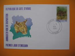 FDC  République De La Côte D'Ivoire - Abidjan Animaux En Voie De Disparition    3/11/1984 - Ivory Coast (1960-...)