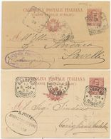 1904/6 CARTOLINE POSTALI FLOREALE C. 10 (03 E 05) SU CARTONCINI DIFFERENTI USATE  (8330) - 1900-44 Vittorio Emanuele III