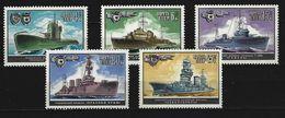 SOWJETUNION - Mi-Nr. 5216 - 5220 Kriegsschiffe Postfrisch (2) - Schiffe
