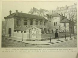 1913 L école Maternelle  De La Rue Paul Dubois PÄRIS    Quatier Du Temple  75003 - Arrondissement: 03