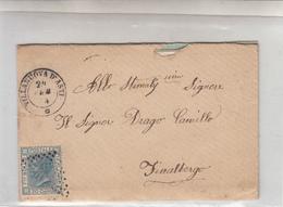 Storia Postale_VITT.EMAN.II-Valore Da 20 Cent-Vg Da Villanova D'Asti 24-2-1874 A Finalborgo Il 26-2-874-Via Xxmiglia 25- - Posta
