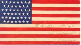 1898 Patriotic-US Flag Cover Voyagé, Letter Avec Drapeau Etats-Unis. Voir 2 Scan - 1847-99 Algemene Uitgaves