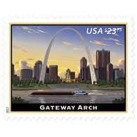 Stamps USA 2017. The Arch Of The Gateway. Priority - Express Mail Charge. - United States