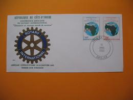 FDC  République De La Côte D'Ivoire - Abidjan  Du  16/1/1985  Conférence Africaine Du Rotary International - Ivory Coast (1960-...)
