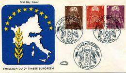 Enveloppes 1er Jour - Europa CEPT - 1957 - LUXEMBOURG - Europa-CEPT