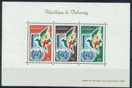 Dahomey (Benin), United Nations 1961, MNH VF  Souvenir Sheet Of 3 - Benin - Dahomey (1960-...)