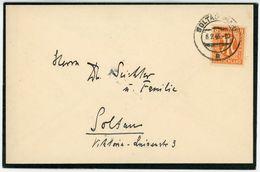 Nr. 14 Gute EF Ortsbrief Soltau 1946 - Bizone