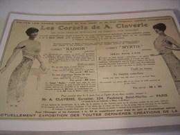 ANCIENNE AFFICHE PUBLICITE CORSET CLAVERIE - Vintage Clothes & Linen
